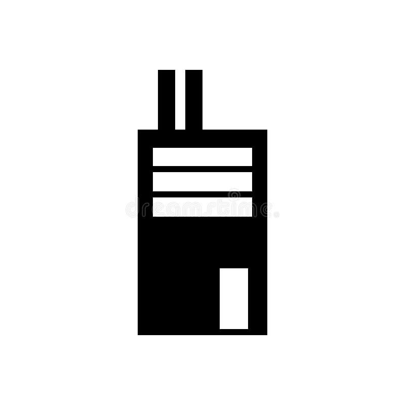 Fabrikssymbol, fast illustration, pictogram som isoleras på på moderiktig plan stil för vitt bakgrundsbyggnadstecken för diagram royaltyfri illustrationer