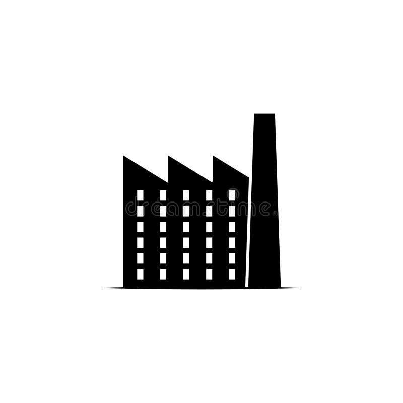 Fabrikssymbol på vit bakgrund Kan användas för rengöringsduken, logoen, den mobila appen, UI UX stock illustrationer