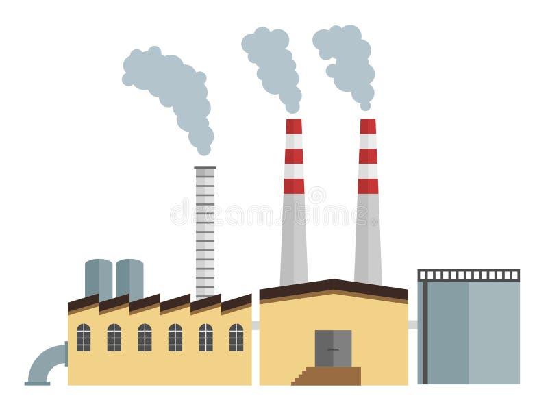 Fabrikvektor lizenzfreie abbildung