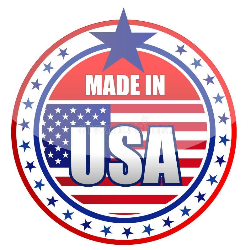 Fabriqué aux Etats-Unis illustration de vecteur