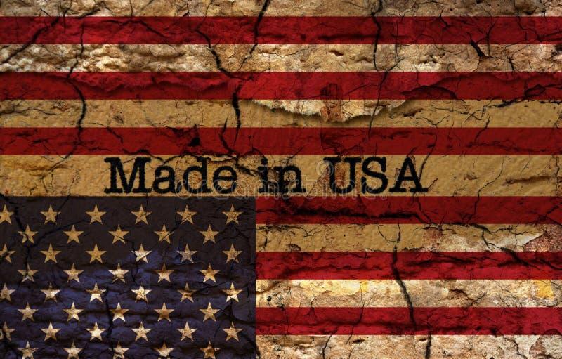 Fabriqué aux Etats-Unis illustration stock