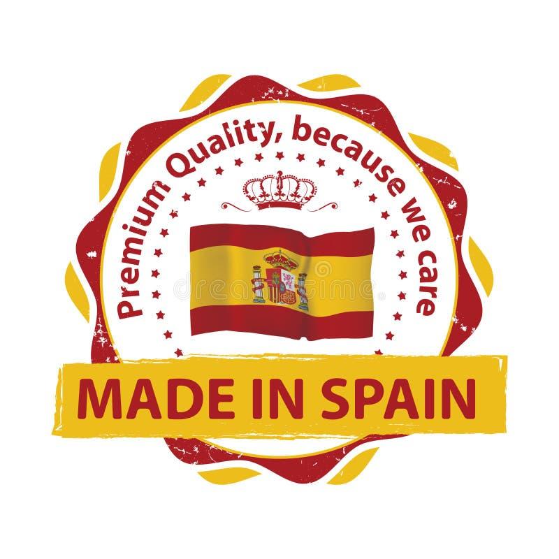 Fabriqué en Espagne, timbre de la meilleure qualité de qualité illustration libre de droits