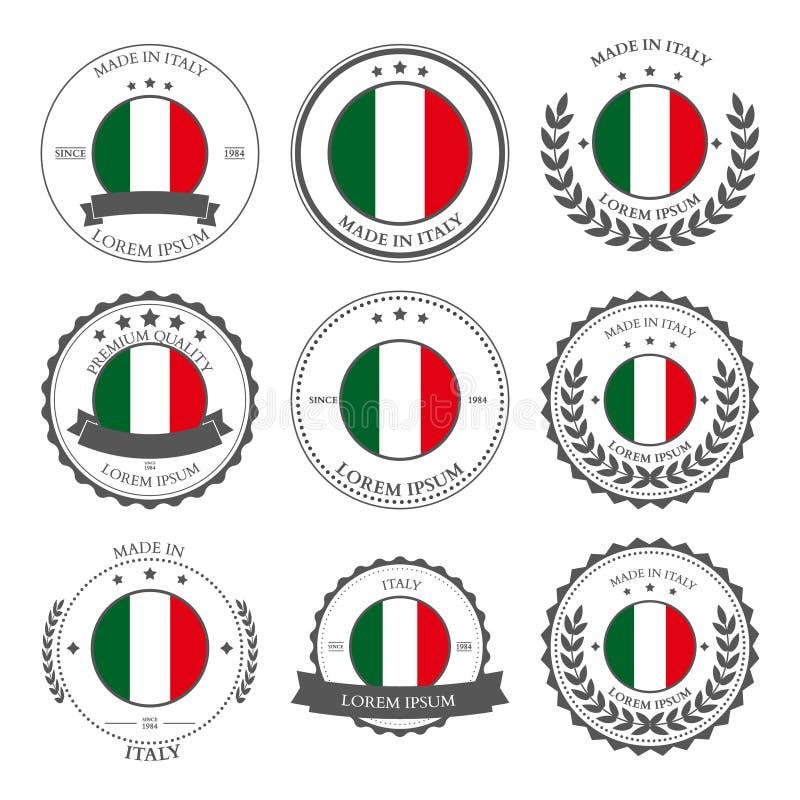 Fabriqué en Italie, joints, insignes Vecteur illustration libre de droits