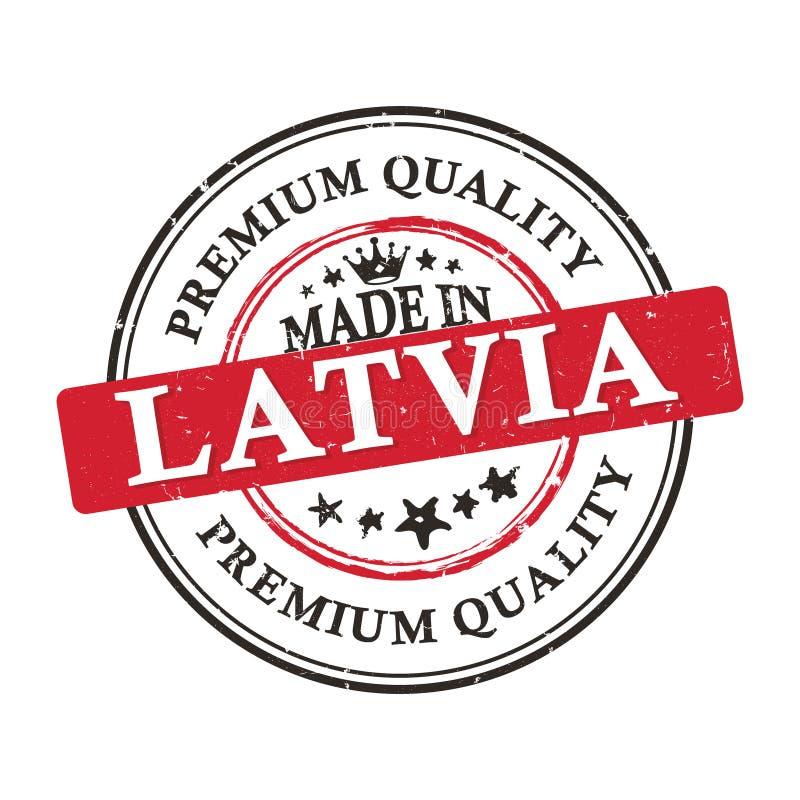 Fabriqué en Lettonie, bannière de qualité de la meilleure qualité/autocollant imprimables illustration stock