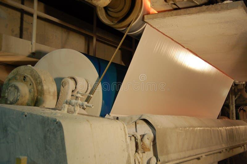 Fabrique de pâte à papier de papier et photographie stock