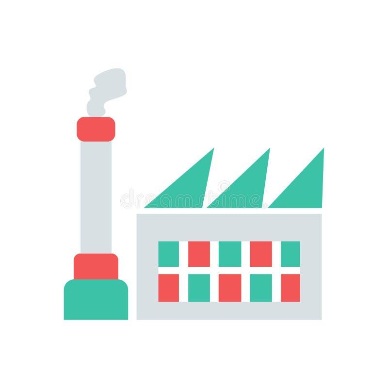 Fabryczna ikona prosty czysty fabryka znaka symbol - wektor ilustracji
