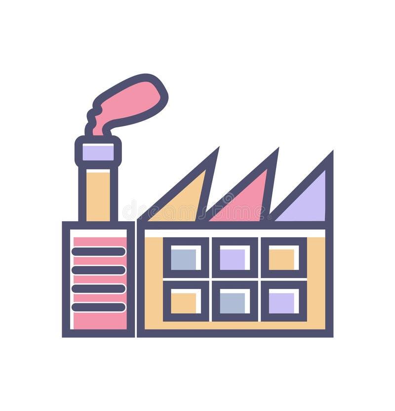 Fabryczna ikona prosty czysty fabryka znaka symbol - wektorowa ilustracja ilustracji