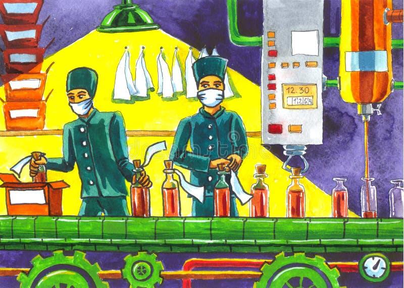 Fabryczna lek ilustracja royalty ilustracja