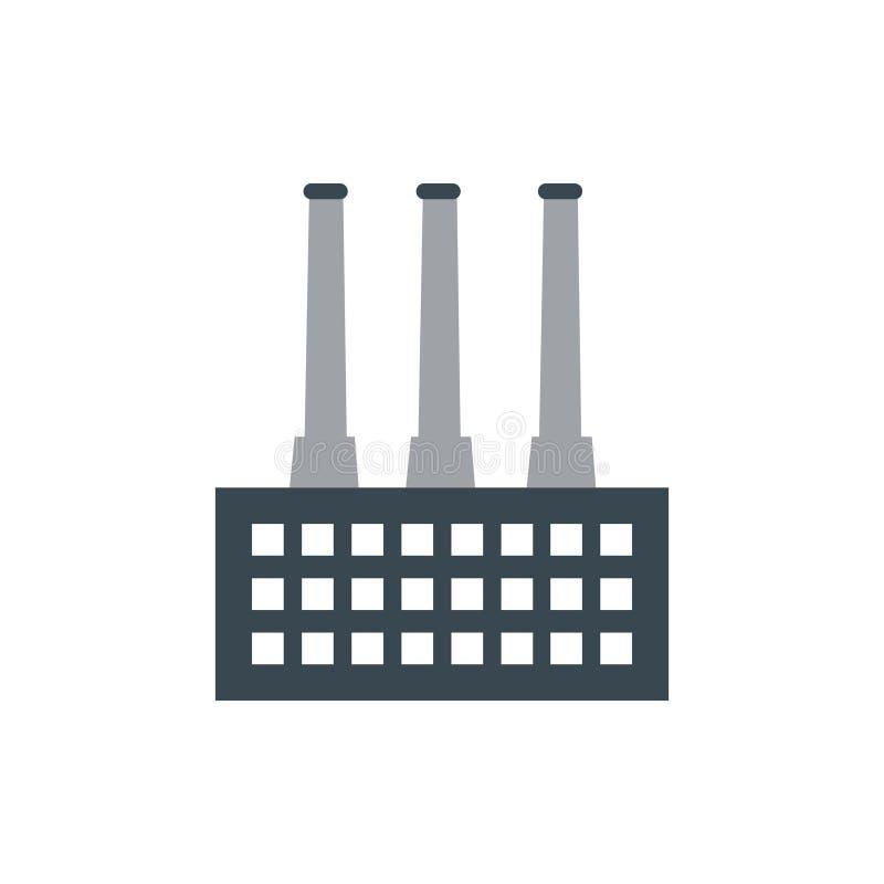 Fabryczna loga projekta ilustracja obraz royalty free