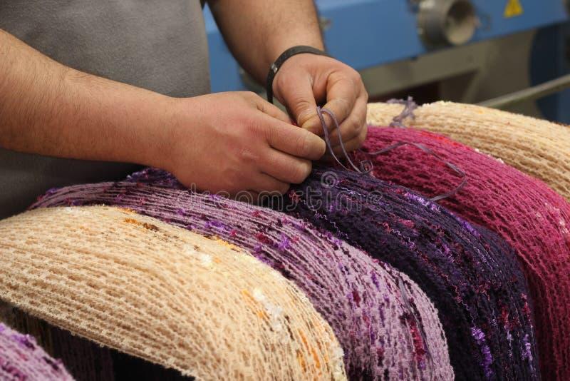 fabryczna tkanina zdjęcie stock
