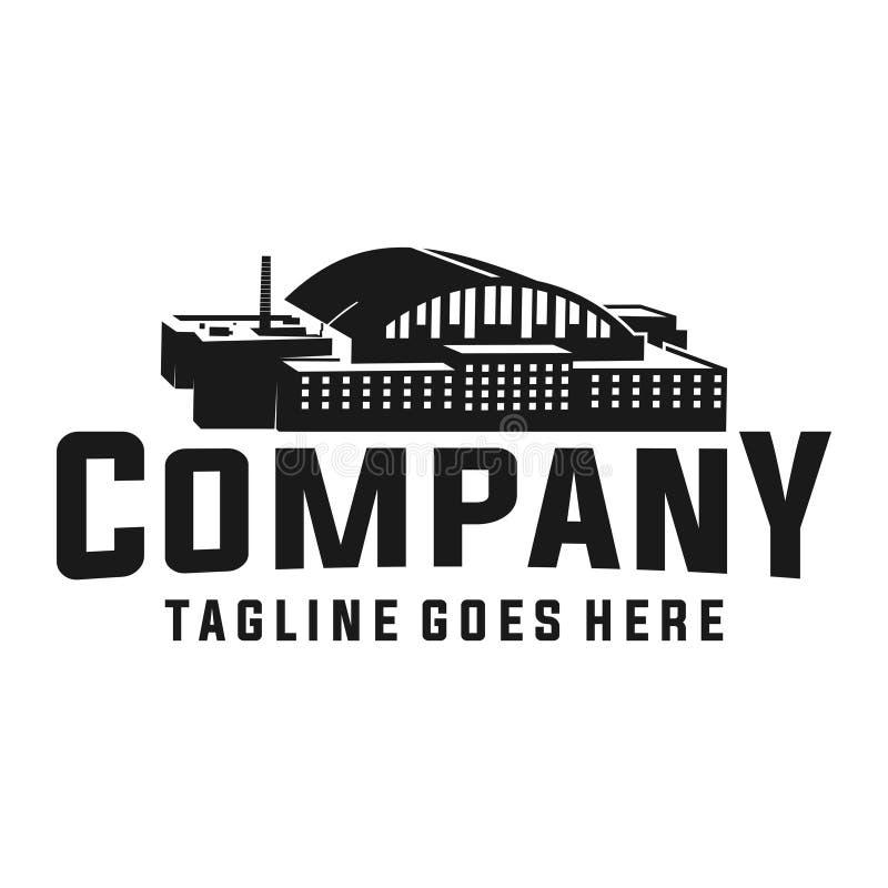 Fabryczny budynku logo ilustracja wektor