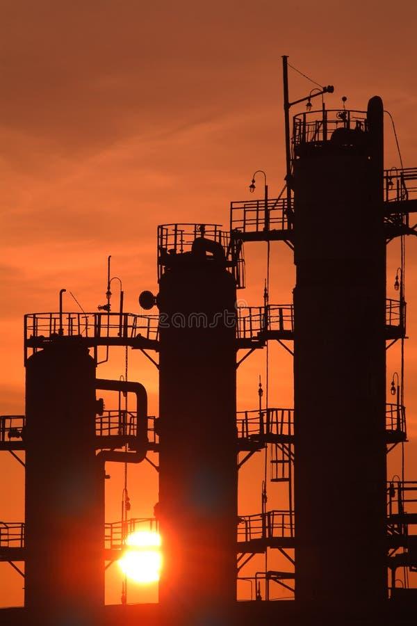 fabryczny przemysł gazowy przerób ropy naftowej rosjanin zdjęcia stock