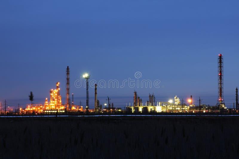 fabryczny przerób ropy naftowej fotografia royalty free