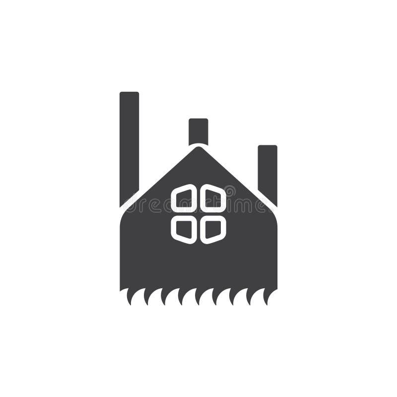 Fabryczny sylwetka symbolu logo wektor ilustracja wektor