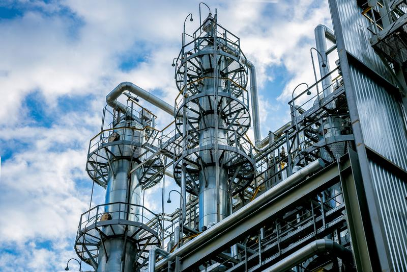 fabryka chemiczna Detekcja góruje fotografia royalty free