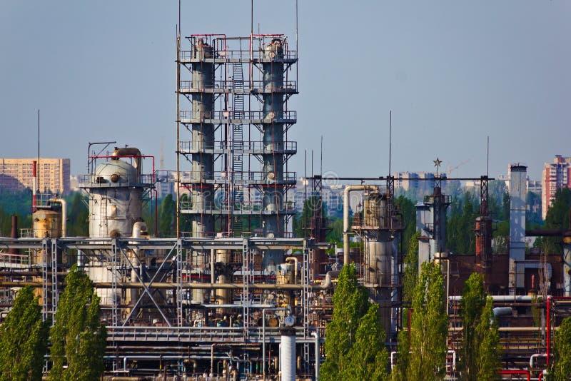 fabryka chemiczna Detekcja góruje Benzynowa separacyjna jednostka zdjęcie royalty free