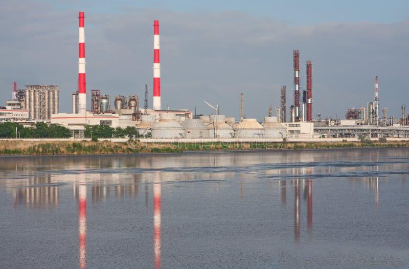 fabryka chemikaliów zdjęcia stock