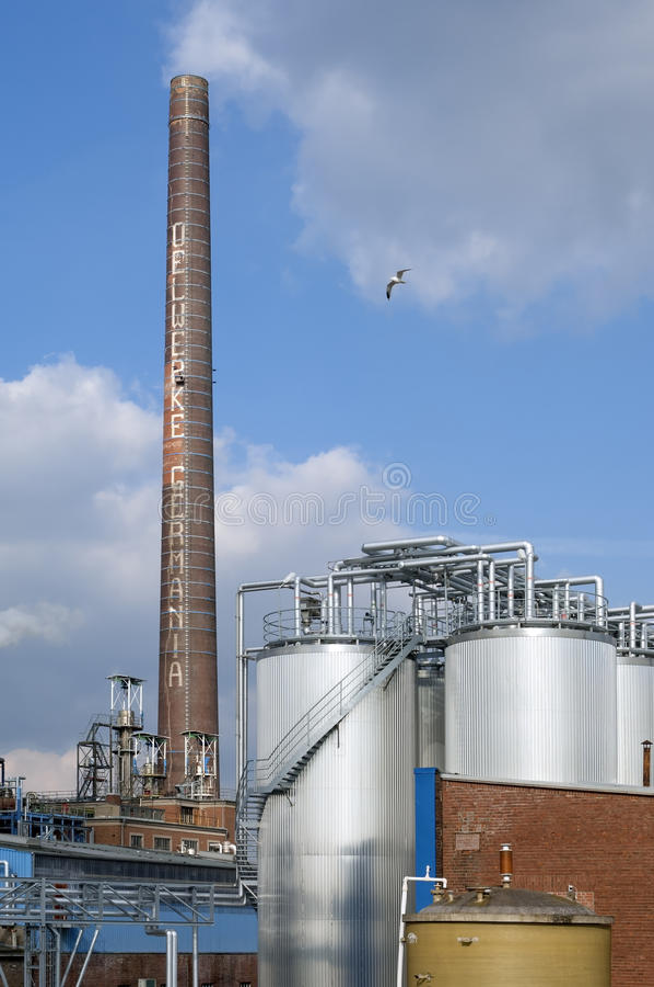 Fabryka chemikaliów Malezyjska firma KLK Oleo fotografia royalty free
