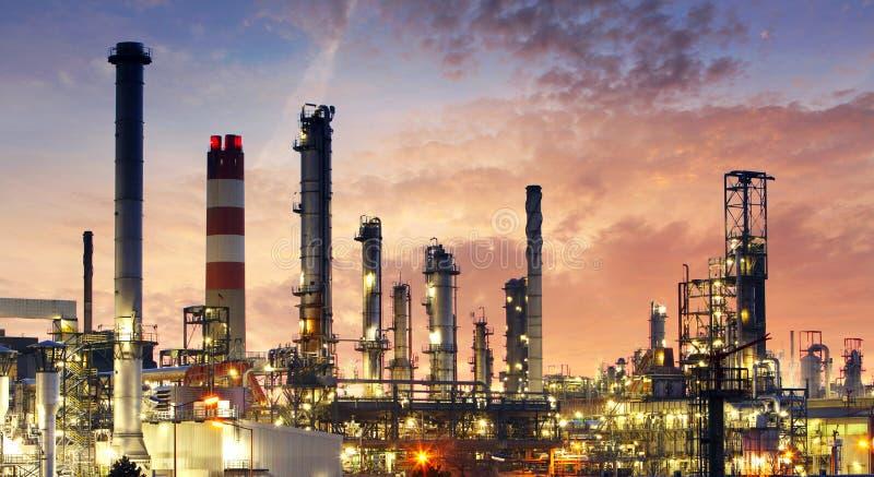 Fabryka - ropa i gaz przemysł obrazy royalty free