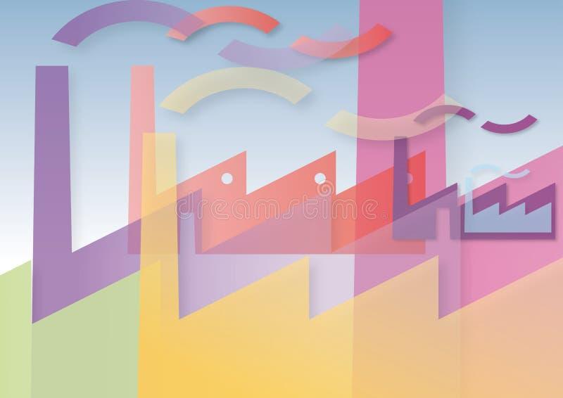 Download Fabryki barwić ilustracji. Obraz złożonej z fabryki, millage - 27682197