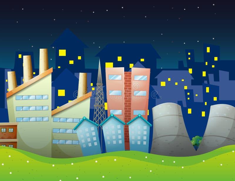 Download Fabryki blisko sąsiedztwa ilustracja wektor. Obraz złożonej z zaświecający - 33449437