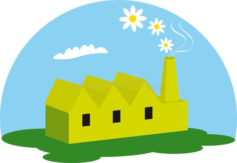fabryki zieleń ilustracji