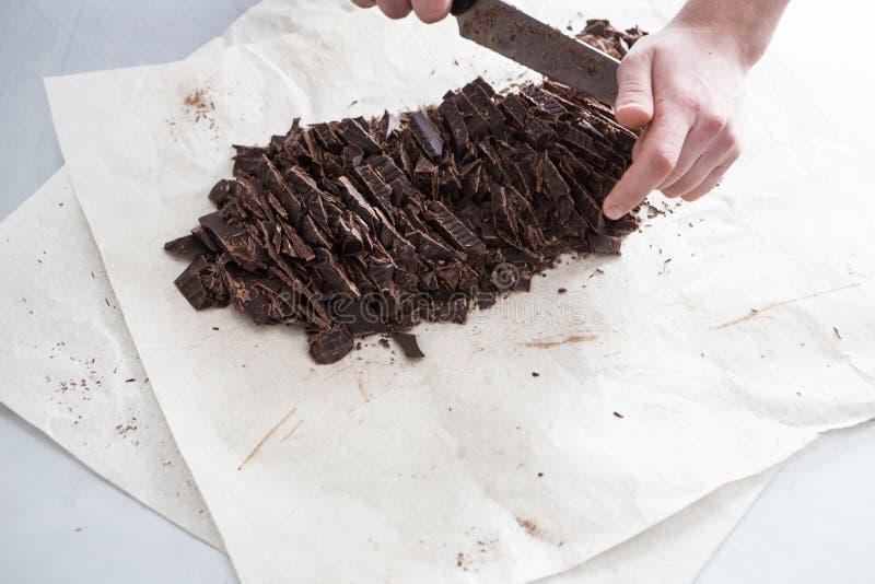 Fabrykować czekoladowi cukierki fotografia stock