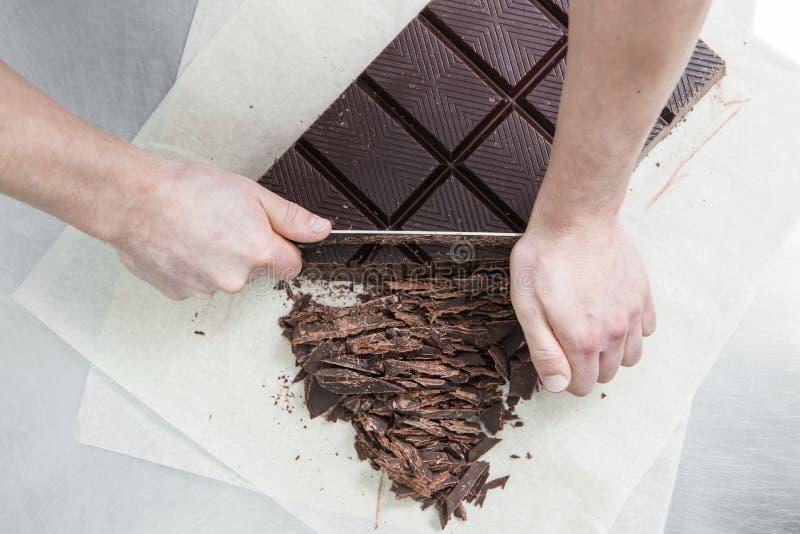 Fabrykować czekoladowi cukierki obraz stock