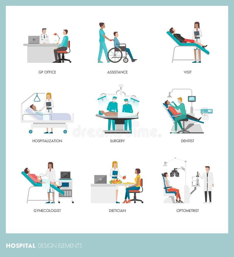 fabrykuje pacjentów royalty ilustracja