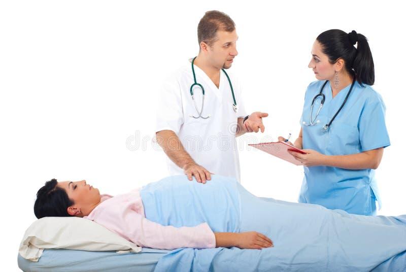 fabrykuje szpitalnego kobieta w ciąży zdjęcia royalty free