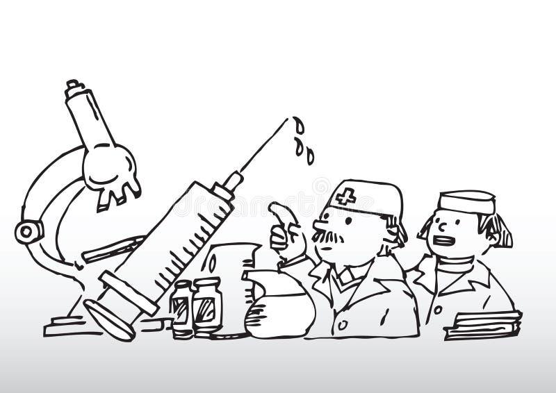 fabrykuje wyposażenia medycznych ilustracji