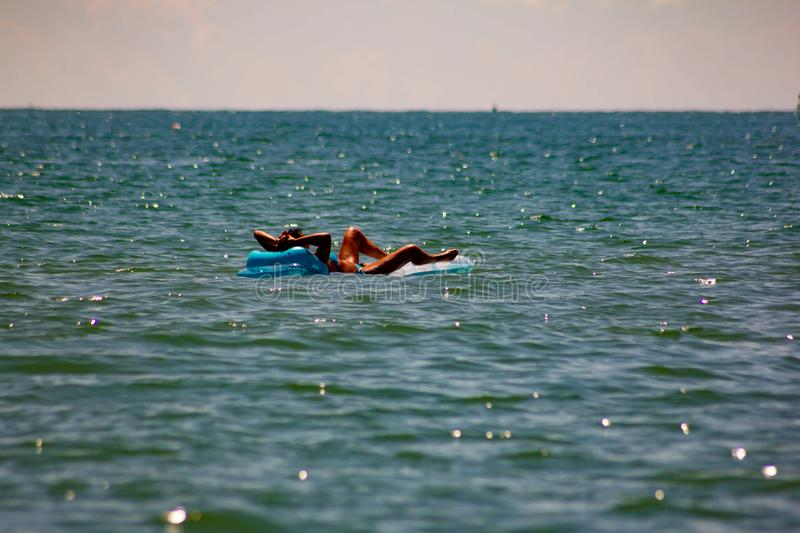 Fabulous image of a fantastic sea on the shores of Veneto, we are on the beaches of Jesolo.  royalty free stock photo