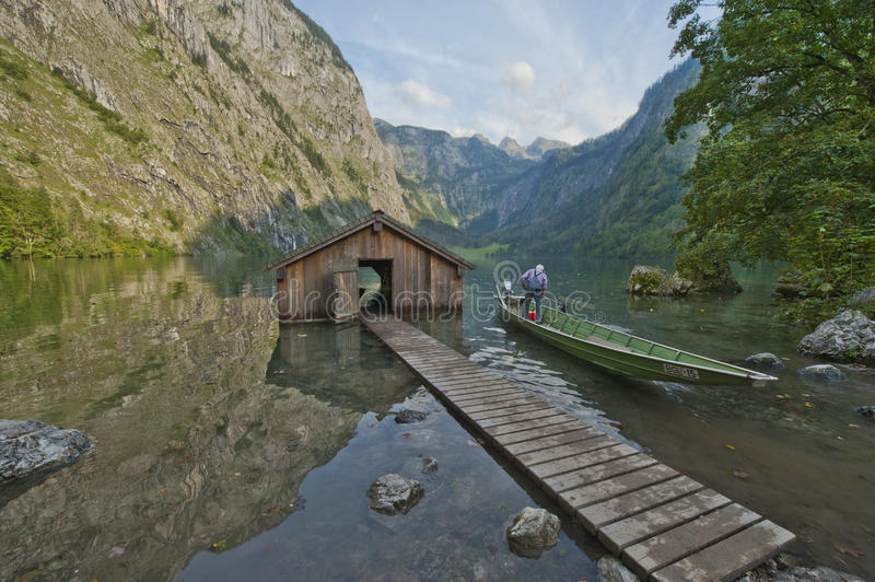 Fabulous Obersee Reflections stock image