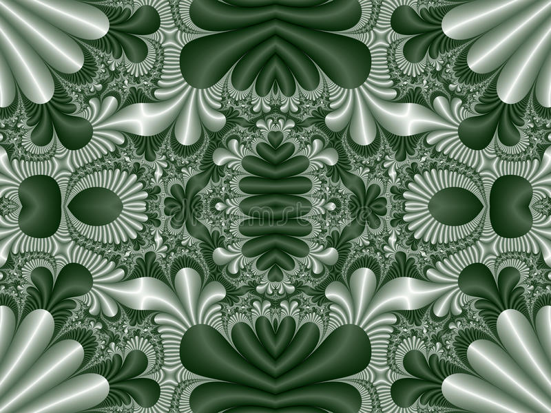 Fabulous symmetrical pattern for background. Collection - Magical Satin. Artwork for creative design, art and entertainment. stock illustration