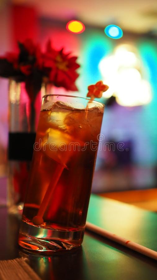 Fabulous Thai tea in your hand royalty free stock photo