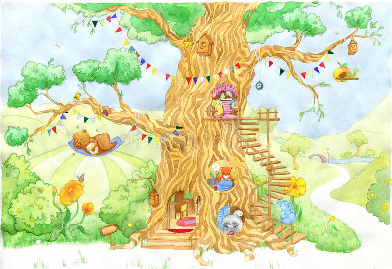Fabulous tree royalty free illustration