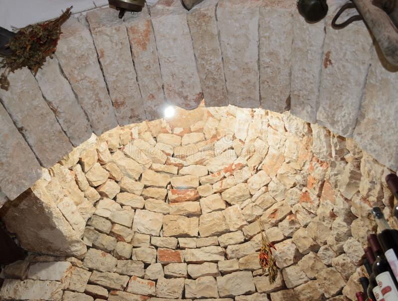 Fabulous trulli of Alberobello stock images