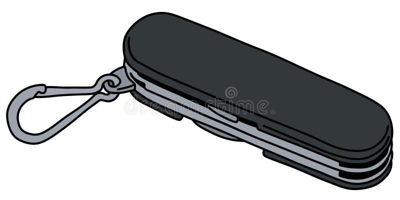 A faca de bolso preta ilustração do vetor