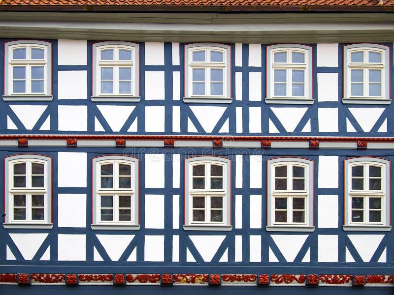 Facad ryglowy dom w Duderstadt, Niemcy zdjęcia royalty free