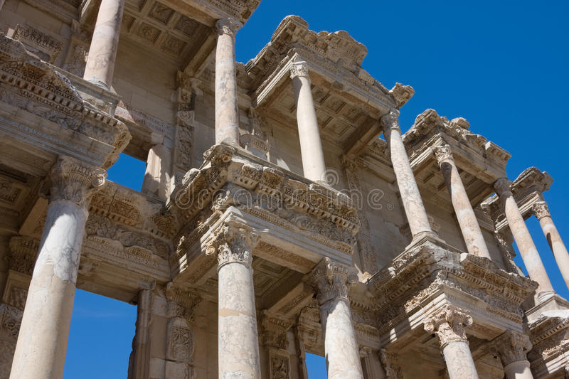 Download Facade Of Ancient Celsus Library In Turkey Stock Photo - Image: 12707658