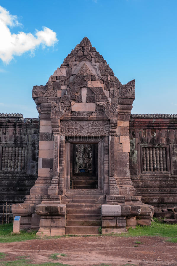 Download Facade Of Ancient Khmer  Architecture At Wat Phou Stock Photo - Image: 32289904