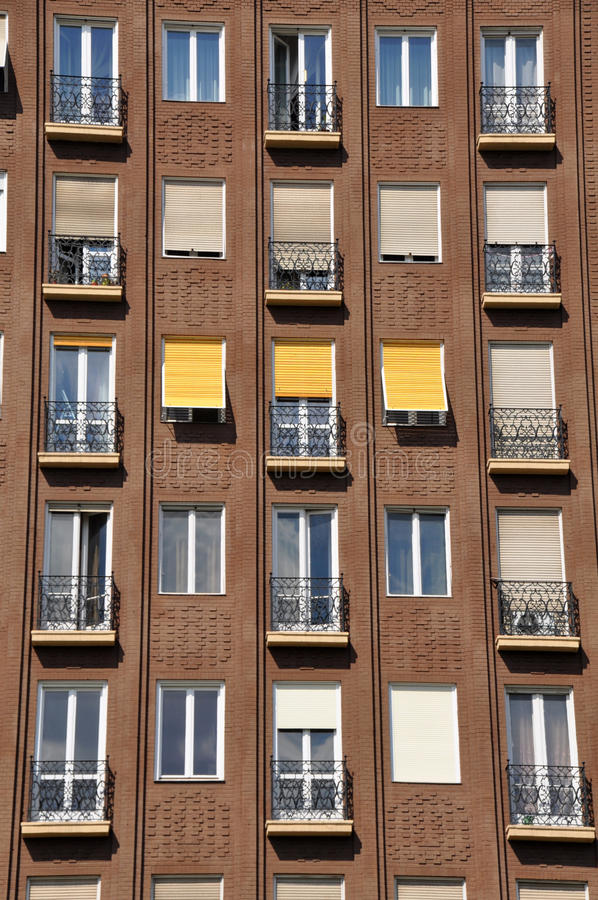 Facade of apartment block. In Budapest, Hungary stock images