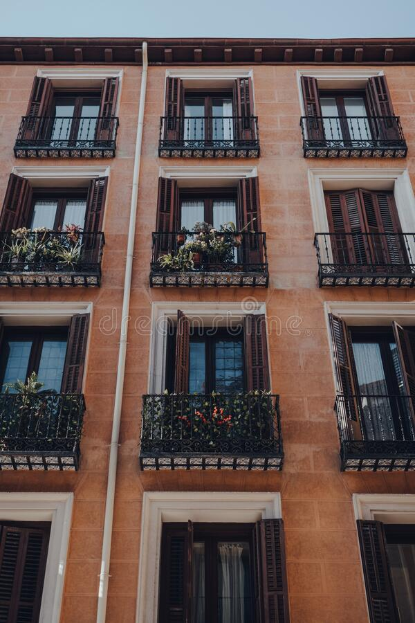 Old Apartment Building In City Centre Stock Image Image