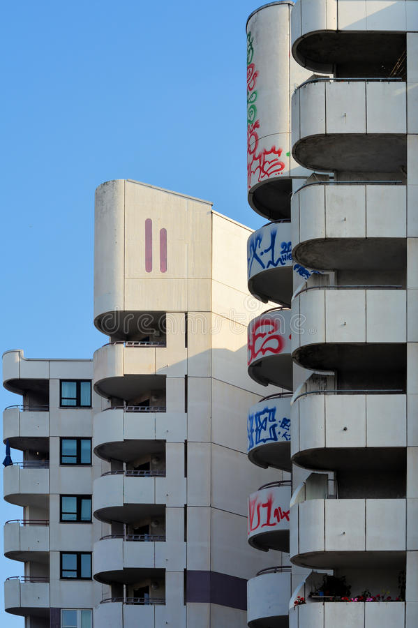 Facade. Of an apartment building in Berlin stock image