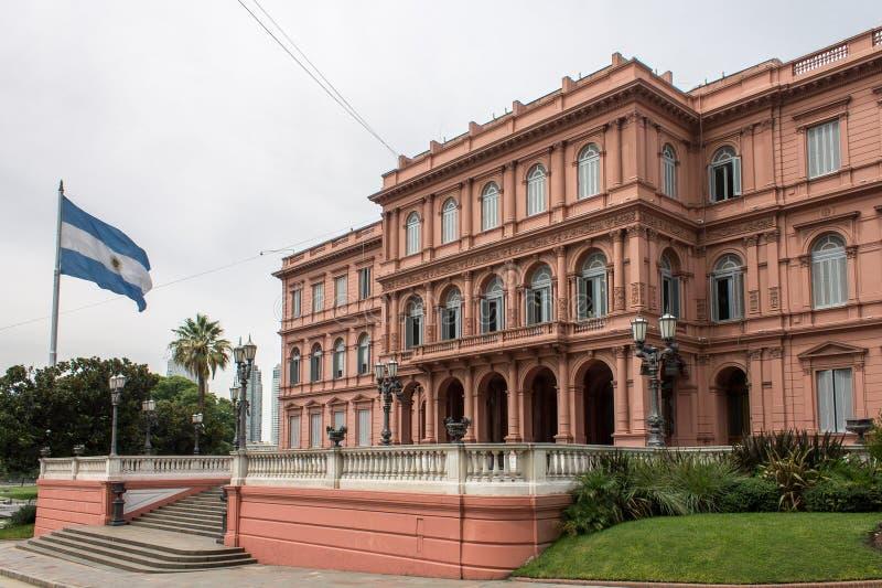 Facade Argentina för CasaRosada sida royaltyfri bild