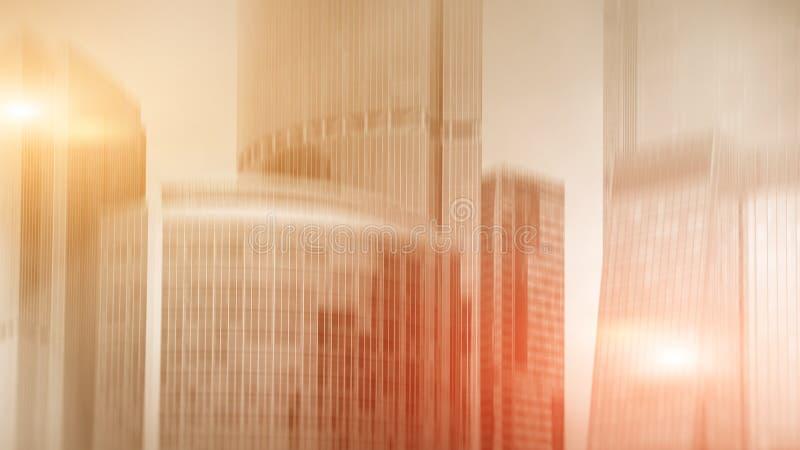 Facade av modern kontorsbyggnad Begrepp av modern arkitektur suddighet bakgrund royaltyfria foton