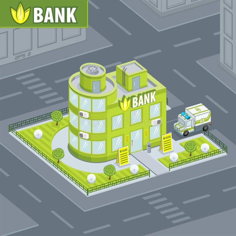 Facade bank royalty free illustration