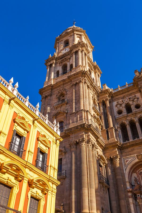 Cathedral of the Incarnation in Malaga, Spain stock photos