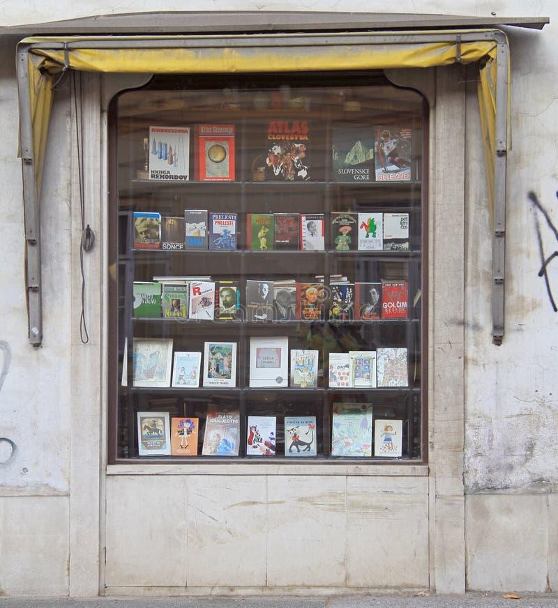 Facade of a book shop in Maribor, Slovenia stock photo