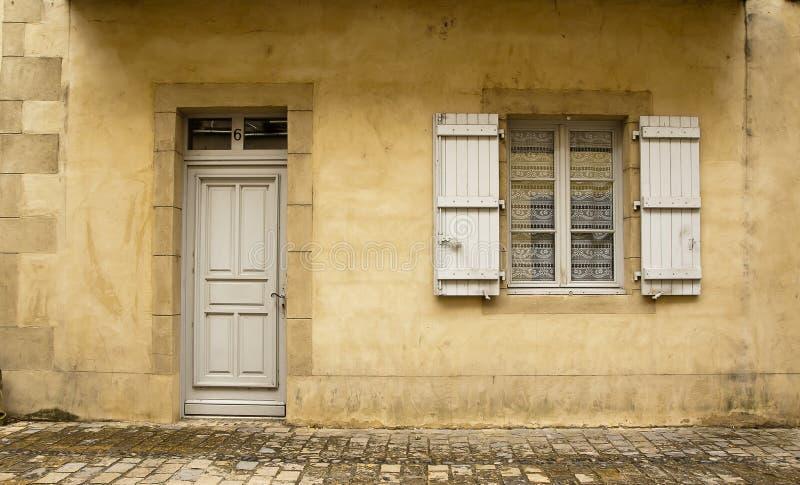 Facade Beaulieu-sur-Dordogna France royalty free stock photos